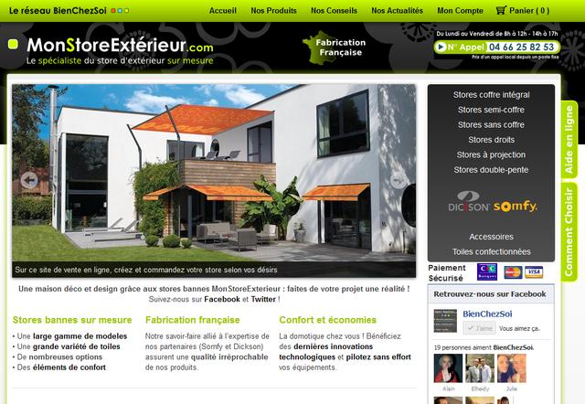 mon store ext rieur mise en ligne du site. Black Bedroom Furniture Sets. Home Design Ideas